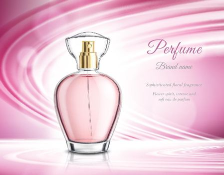 Perfume Product Realistic Advertisement Poster