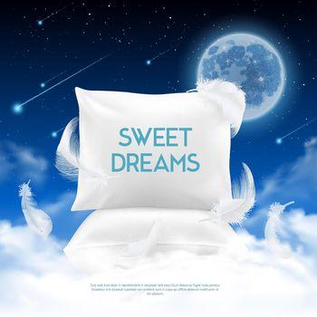 Night Sleep Realistic Composition