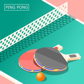 Ping Pong Isometric Background
