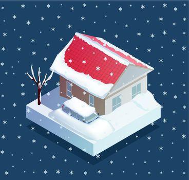 Natural Snow Disaster Illustration