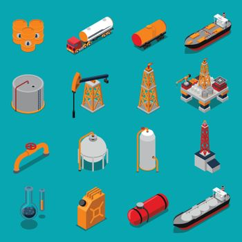Oil And Gas Isometric Set