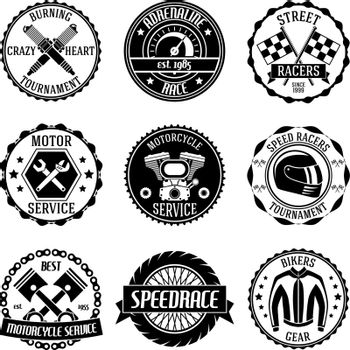 Motorcycle racings emblems