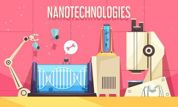 Nanotechnologies Horizontal Illustration