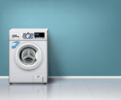 Realistic Washing Machine Background