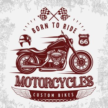 Motorcycle Grey Poster