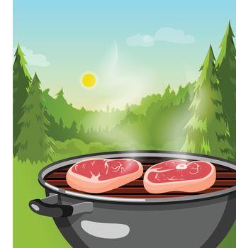 Outdoor Barbecue Concept