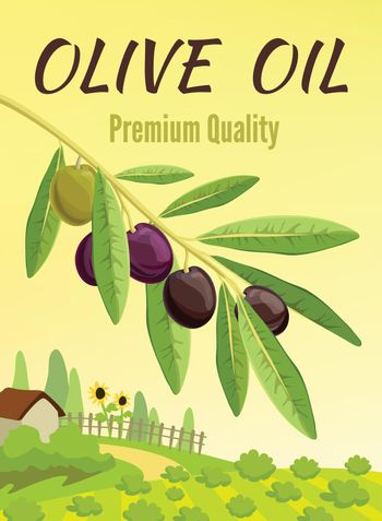 Olive Colored Poster