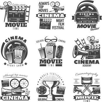 Monochrome Cinema Emblems
