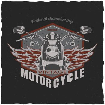 Motorcycle t-shirt label design.