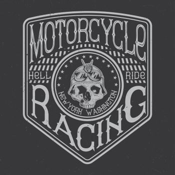 Motorcycle typography, t-shirt graphics