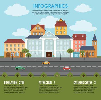 Old Town Landscape Elements Infographic Concept