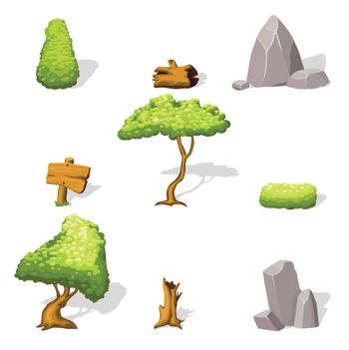 Natural Landscape Elements Collection