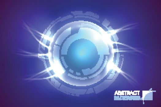 Futuristic Lens Circles Background