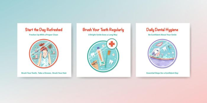 Daily life ads template design for brochure and marketing  watercolor illustration