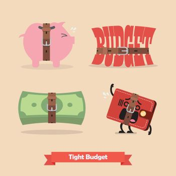 Tight budget and recession shrinking economy collection