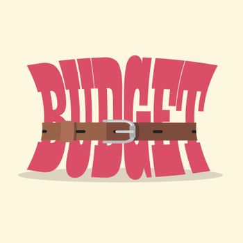 Tight budget and recession shrinking economy concept