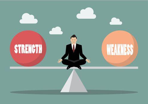 Balancing between strength and weakness