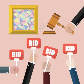 Buying selling painting from auction
