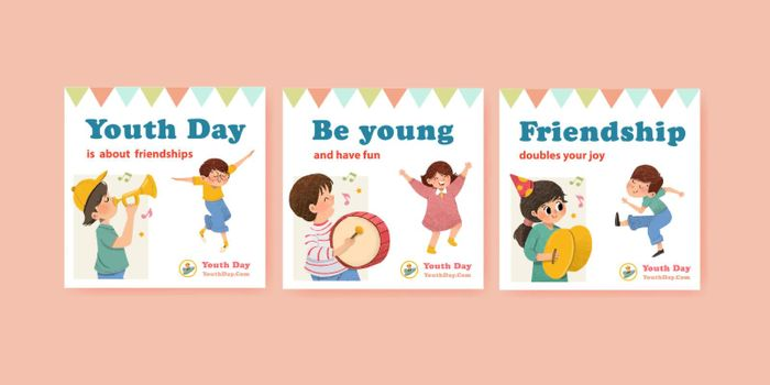 Advertise template with youth day design for brochure,leaflet and   advertise watercolor vector illustration