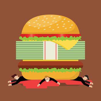 Businessmen under hamburger crisis