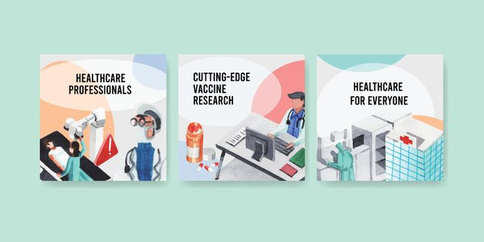 healthcare banner design with hospital,doctor and pharmacy