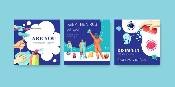 Coronavirus or COVID-19 ads design with protect virus,bacteria and safety