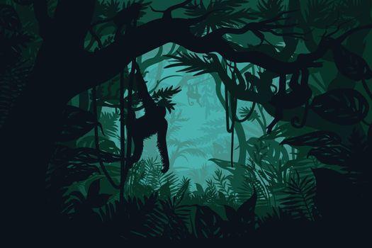 Natural Jungle Landscape Template