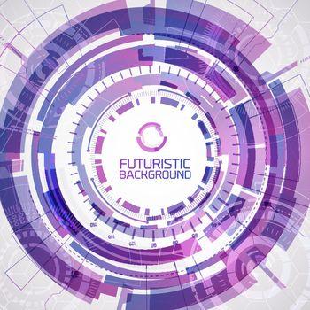Round Purple Futuristic Background