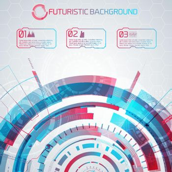 Modern Futuristic Infographical Background