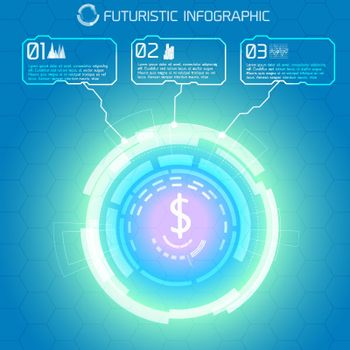 Futuristic Financial Infographic Background