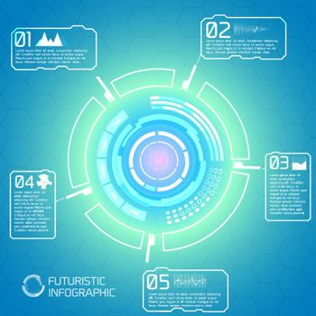 Touchscreen Interface Infographic Concept