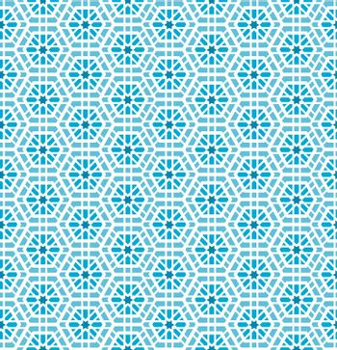 Oriental mosaic seamless pattern