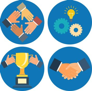 partnership concepts business illustration