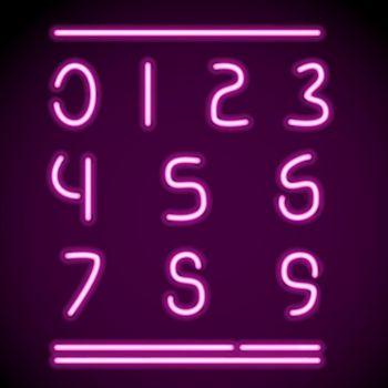 Realistic Neon Alphabet 4