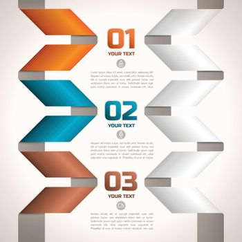Twisted Paper Ribbons Edging Text Fields