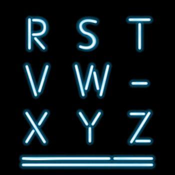 Neon Light Alphabet 3