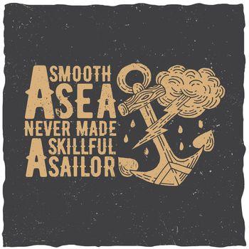 Original Nautical Poster