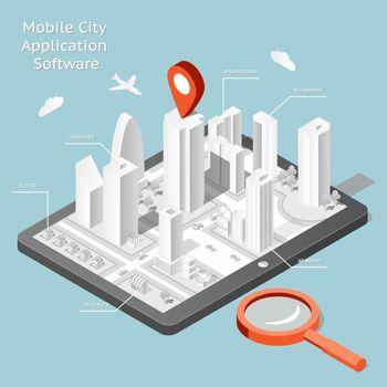 Paper mobile city navigation application software
