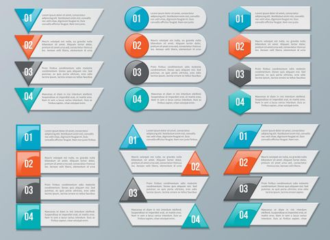Vector Number Options for Infographics