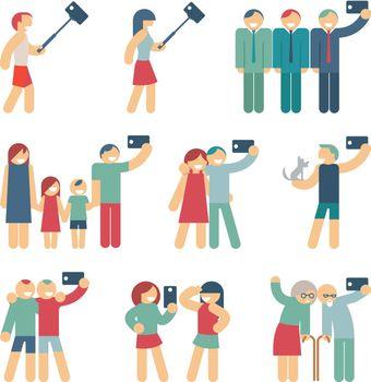 Selfie figures of people