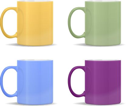 mugs of different colors