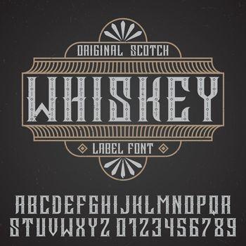 Original Whiskey Poster