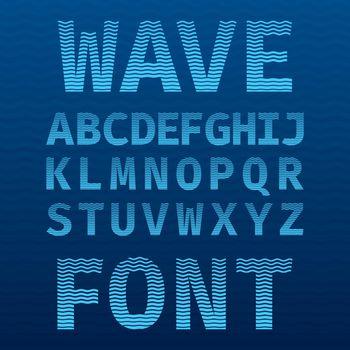 Original Wave Font Poster