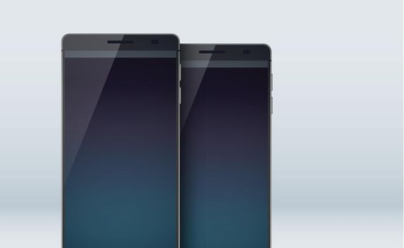 Modern Concept Smart Phones Set Collection