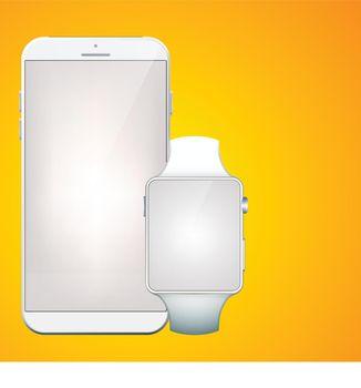 Modern Digital Gadgets Set