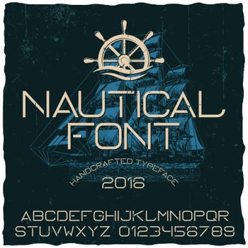 Nautical Hand Crafted Typeface Poster