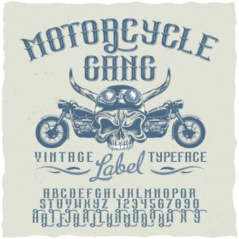 Motorcycle Gang Typeface Poster