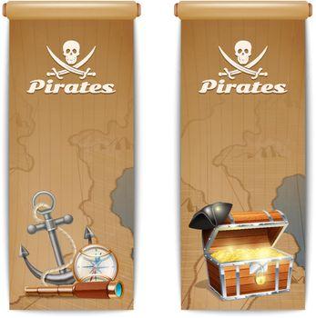 Pirate Banner Vertical