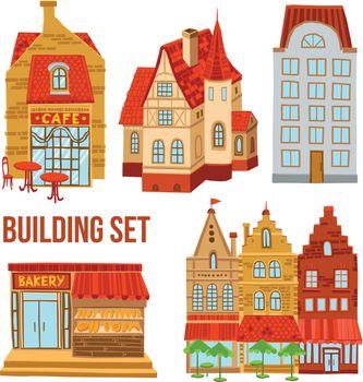 Old Town Buildings Set