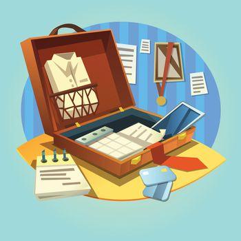 Business retro briefcase